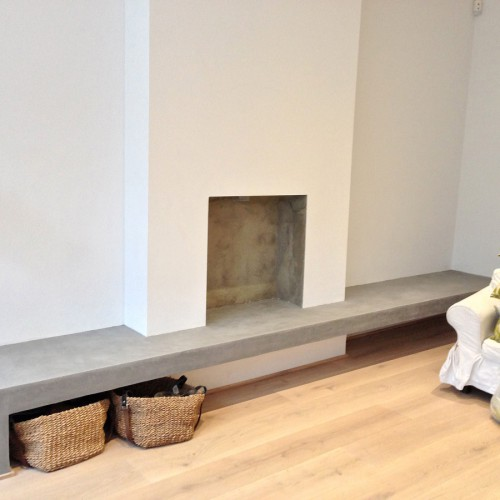 Fireplace Bench made of Tadelakt