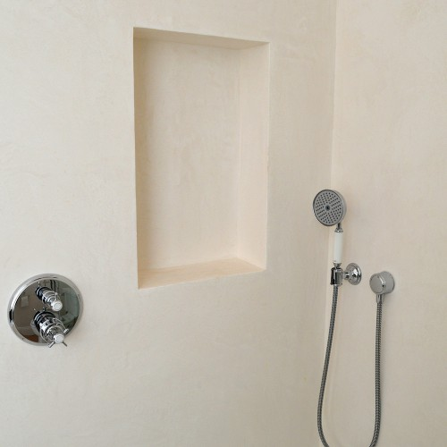 Grout-free shower