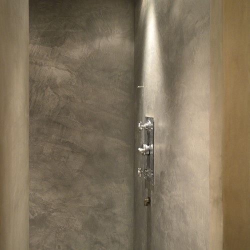 Soft grey shower enclosure