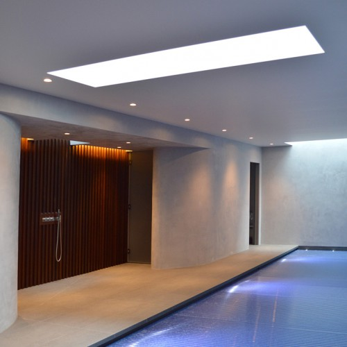 Low maintenance pool area