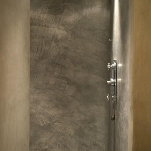 Soft grey shower enclosure